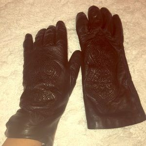 Accessories - Vintage Genuine leather Italian gloves